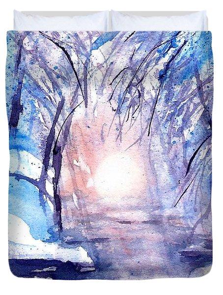 A Winters Dream Duvet Cover