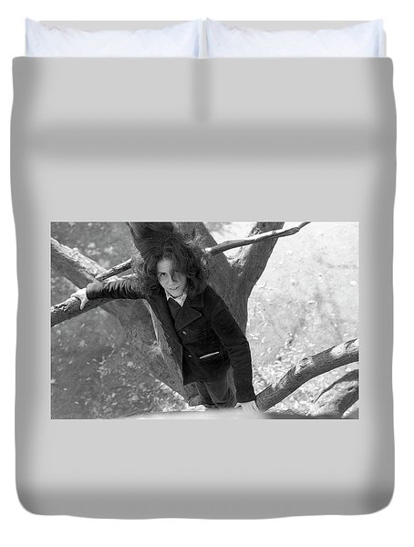 A Woman In A Tree, 1972 Duvet Cover