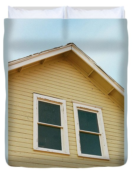 A Yellow House Duvet Cover