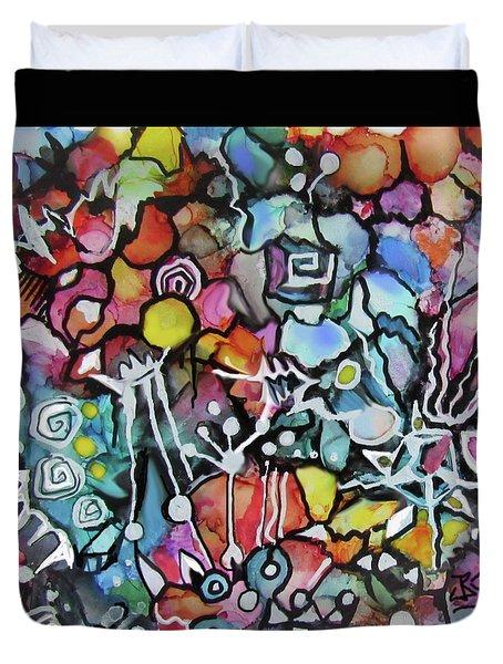 A Zentangle Dance Duvet Cover