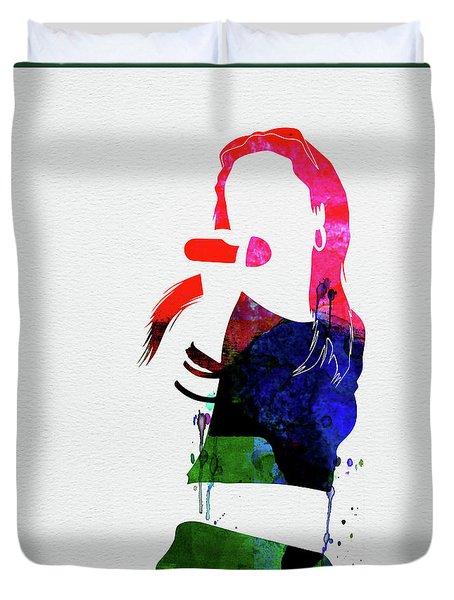 Aaliyah Watercolor Duvet Cover