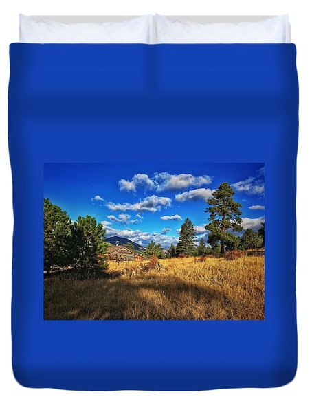 Duvet Cover featuring the photograph Abandoned Cabin by Dan Miller