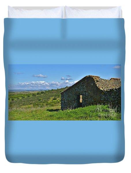 Abandoned Cottage In Alentejo Duvet Cover