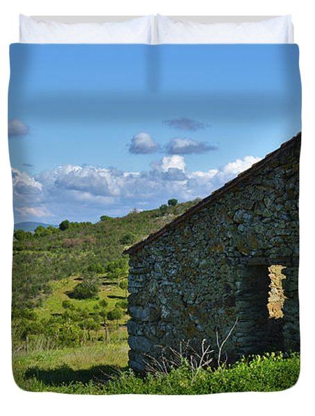 Abandoned Cottage In Alentejo Duvet Cover