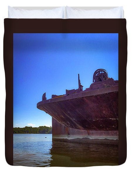 Duvet Cover featuring the photograph Abandoned Ship by Lora J Wilson
