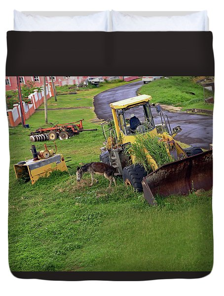 Duvet Cover featuring the photograph Abandoned by Tony Murtagh