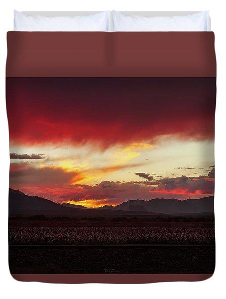 Duvet Cover featuring the photograph Ablaze by Rick Furmanek