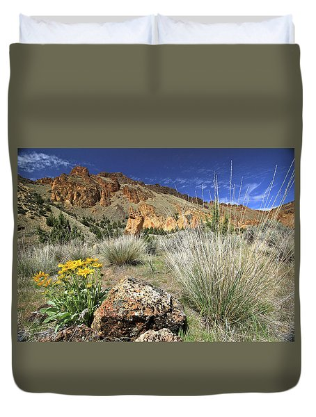 Above Juniper Gulch Duvet Cover