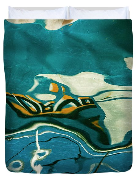 Abstract Boat Reflection V Color Duvet Cover