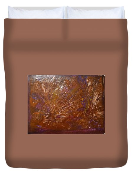 Abstract Brown Feathers Duvet Cover