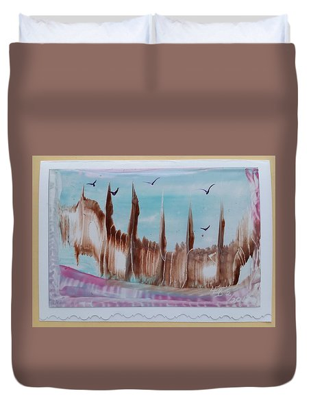 Abstract Castles Duvet Cover