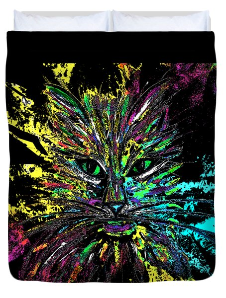Abstract Cat  Duvet Cover