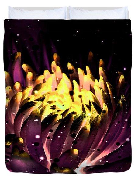 Abstract Digital Dahlia Floral Cosmos 891 Duvet Cover
