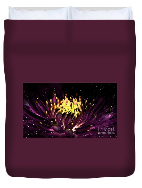 Abstract Digital Dahlia Floral Cosmos 891 Duvet Cover