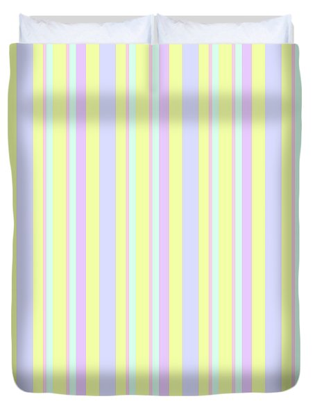 Abstract Fresh Color Lines Background - Dde595 Duvet Cover