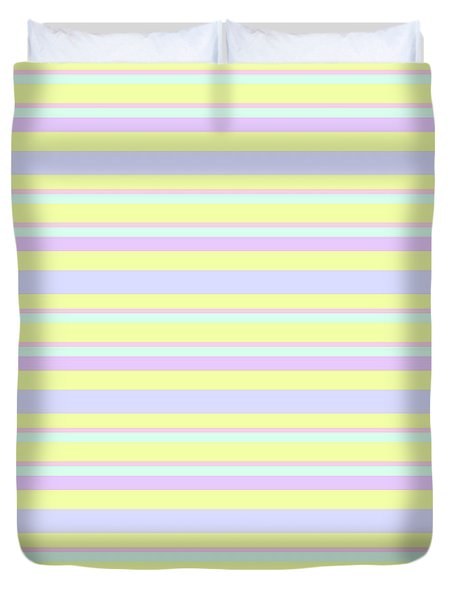 Abstract Horizontal Fresh Lines Background - Dde596 Duvet Cover