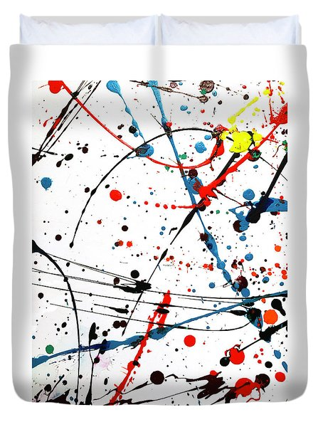 Abstract Pollock Look Duvet Cover