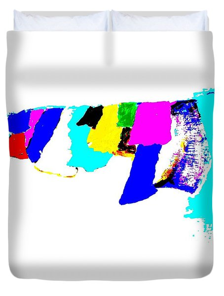 Abstract Prayers Duvet Cover