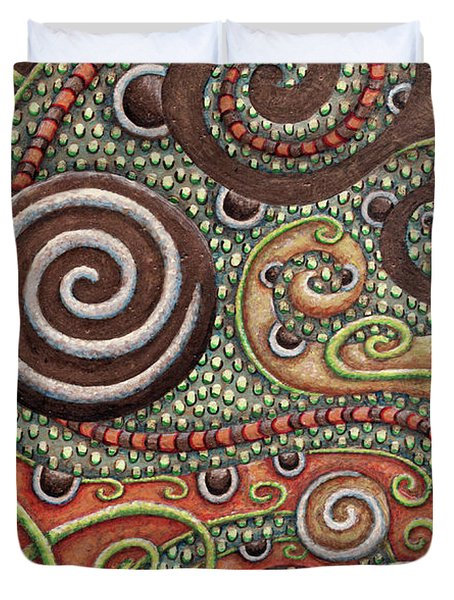 Abstract Spiral 10 Duvet Cover