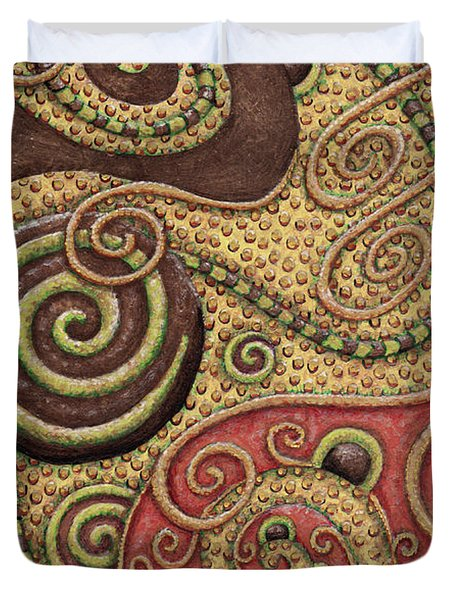 Abstract Spiral 3 Duvet Cover