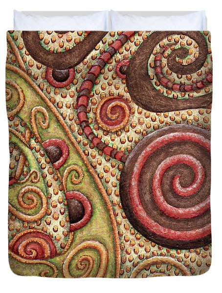 Abstract Spiral 4 Duvet Cover