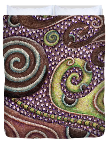 Abstract Spiral 7 Duvet Cover