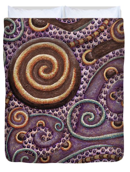 Abstract Spiral 8 Duvet Cover