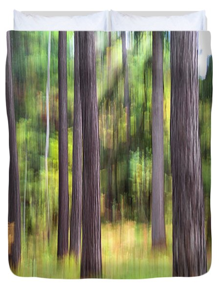 Abstract Wood Duvet Cover