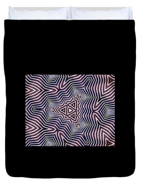 Abstract Zebra Design Duvet Cover