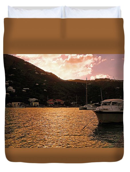 Abstractions Of Coral Bay Duvet Cover