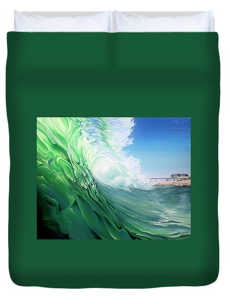 Duvet Cover featuring the painting Access 10 by William Love