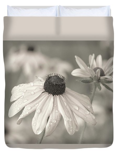Duvet Cover featuring the photograph Achromatic Adoration by Dale Kincaid
