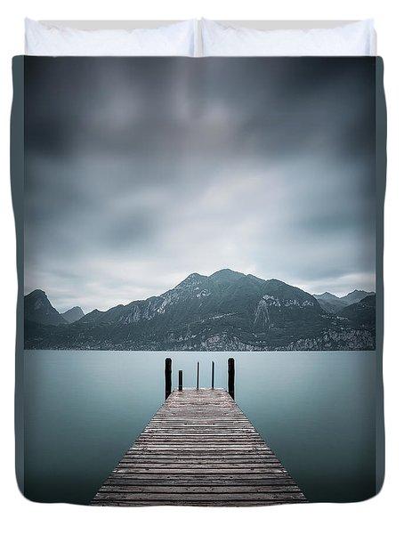 Across The Endless Alps Duvet Cover