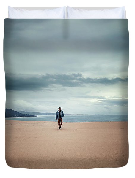 Across The Sands Of Time Duvet Cover