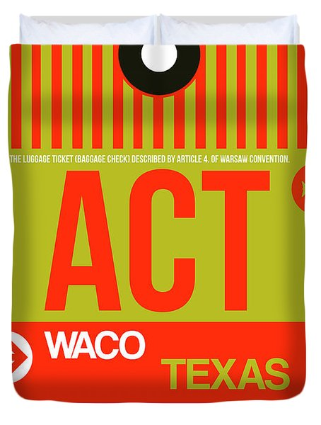 Act Waco Luggage Tag I Duvet Cover