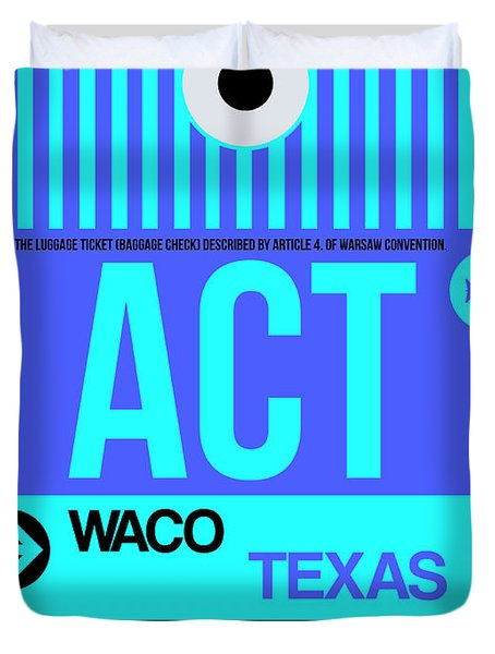 Act Waco Luggage Tag II Duvet Cover