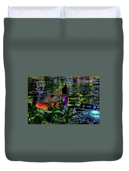 Duvet Cover featuring the photograph Adirondack Guide Boat by David Patterson