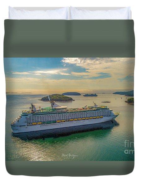 Adventure Of The Seas, Bar Harbor  Duvet Cover
