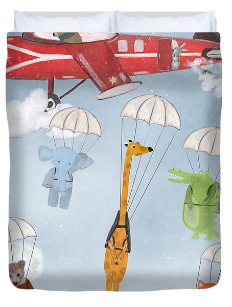 Adventure Skies Duvet Cover by Bri Buckley