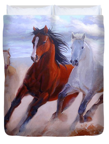 Adventurous Horses Duvet Cover
