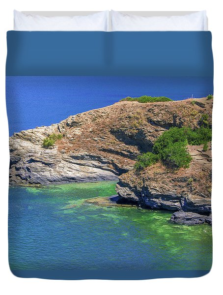 Aegean Coast In Bali Duvet Cover