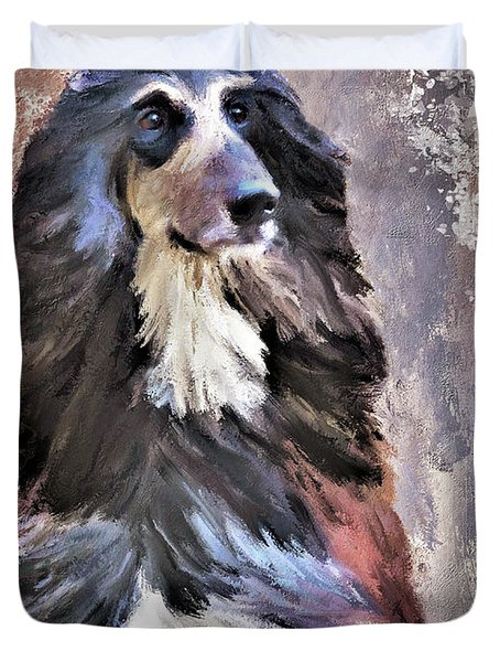 Afghan Hound Duvet Cover