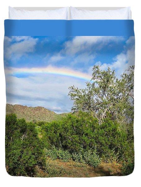 After An Arizona Winter Rain Duvet Cover