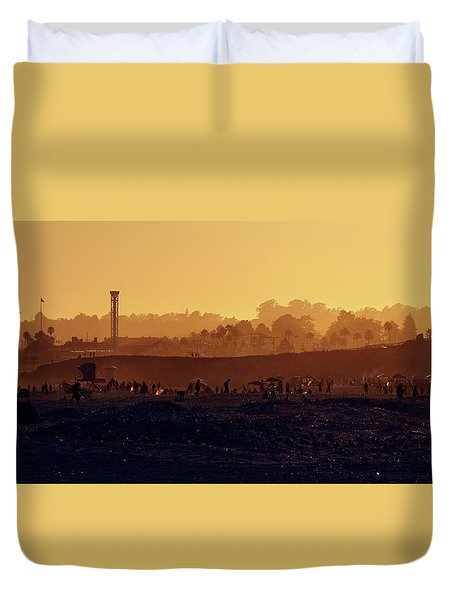 Duvet Cover featuring the photograph After The Apocalypse by Quality HDR Photography