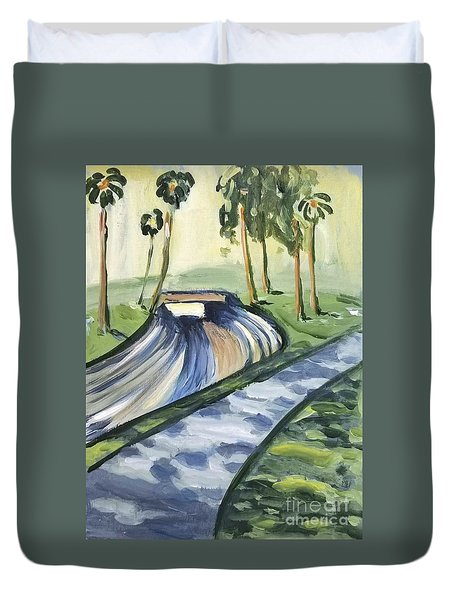 Afternoon In The Park Duvet Cover