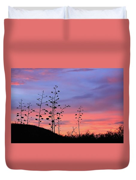 Duvet Cover featuring the photograph Agave Sunset 1 by Dawn Richards
