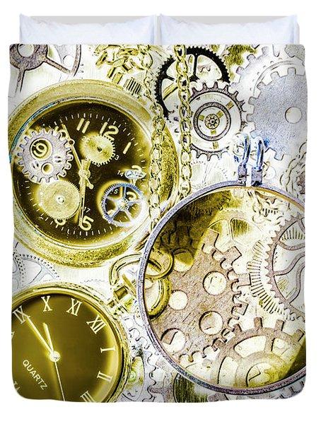 Age Of Circular Machines Duvet Cover