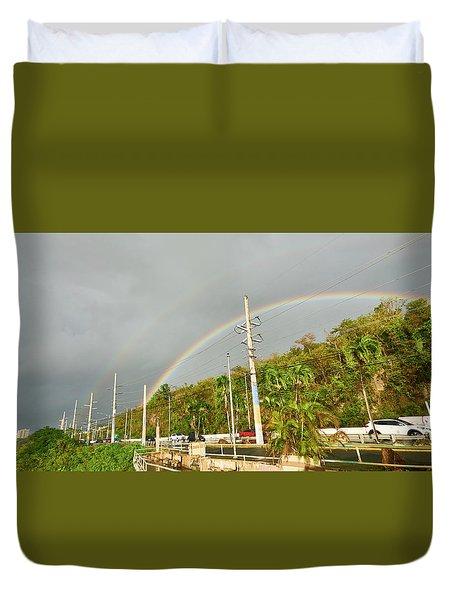 Aguadilla Rainbow Duvet Cover