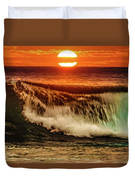 Ahh.. The Sunset Wave Duvet Cover