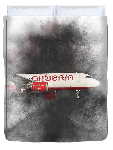 Air Berlin Airbus A320-214 Painting Duvet Cover